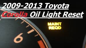logo toyota corolla 2009 2013 toyota corolla reset oil change light youtube