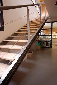 limon d escalier en bois garde corps avec cables en acier kozac