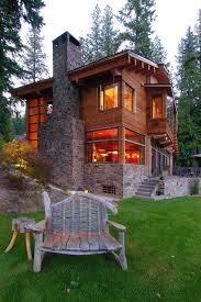 rustic stone and log homes modern stone and log homes this is supposed to be for the yard furniture but the house is