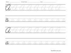 teaching cursive writing worksheet printable cursive for aubrie