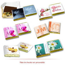 chocolat personnalisã mariage chocolats de mariage personnalisés