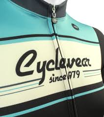 atd designer 1979 retro active cyclewear biking jersey in celeste