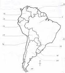 Black And White Map Of Central America by