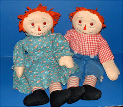 adorable raggedy ann and andy dolls from dollybear on ruby lane