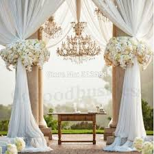 wedding chair bows party decoration organza fabric table top curtain wedding chair