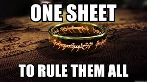 One Ring To Rule Them All Meme - one sheet to rule them all lotr one ring to rule them all meme