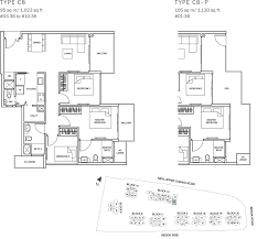the glades condo floor plan 3br suite c8 95 sqm 1023 sqft