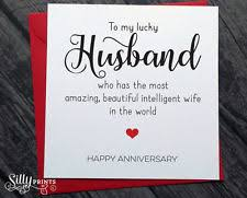 Wedding Anniversary Wishes For Husband Anniversary Cards And Stationery Ebay