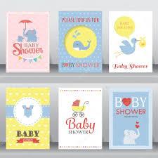 Baby Shower Invitation Card Baby Shower Invitation Cards U2014 Stock Vector Wongwichainae Gmail