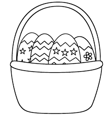 free easter basket coloring page design easter coloring pages