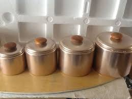 copper kitchen canister sets 82 best vtg kitchen copper faux images on