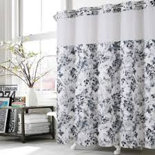 Flower Drop Shower Curtain Buy Hookless Shower Curtains From Bed Bath U0026 Beyond