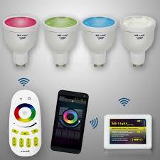 mi light wifi 4w gu10 2 4g remote rgb w white led spot light