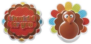 thanksgiving cake toppers turkey and give thankful for you set of two