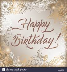 Sketch Birthday Card Vintage Birthday Card Stock Photos Vintage Birthday Card Stock