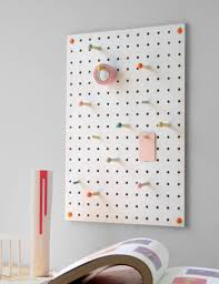 peg board pegboard in white at rose grey