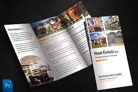 real estate brochure template brochure templates creative market