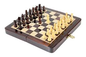 wooden chess set travel magnetic folding board rosewood 6 25