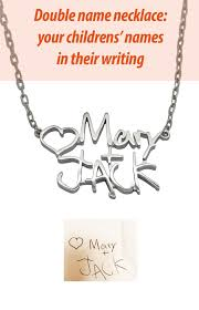 necklaces names name necklace two children name necklace silver