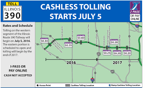 Illinois Tollway Map Unpaid Tolls And Violations Illinois Tollway Reagan Memorial