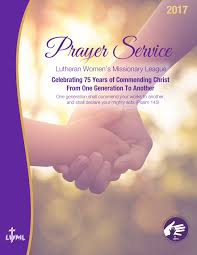 prayer service lutheran women u0027s missionary league