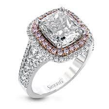 simon g engagement rings 18k white gold halo engagement ring