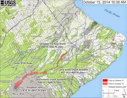 Map Of Hawaii Big Island Lava Flow Threatens Pahoa Community In Hawaii Rudi U0027s Blog