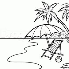 beach scene coloring sheets beach coloring pages for kids archives