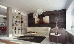 floor to ceiling white bookcase as living room divider brown and