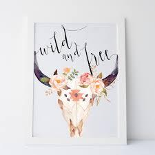 printable art and free skull print floral