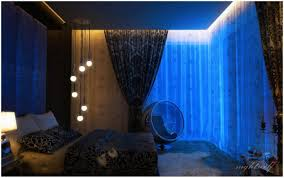 dark blue space bedroom with beautiful curtain privyhomes