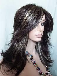 hoghtlighting hair with gray dark with streaks hair pinterest dark brown highlights
