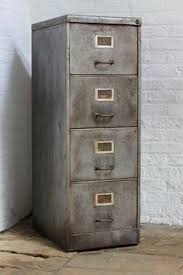 Metal Filing Cabinet 4 Drawer Reclaimed Vintage Urban Industrial Withy Grove Stores 1970 U0027s
