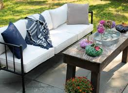 Patio Sofa My New Patio Sofa Decorated For Early Fall Love My Simple Home