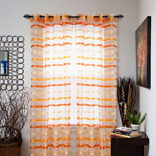 Sheer Curtains Orange Orange Sheer Curtains For Window Jcpenney