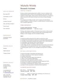 Sample Research Assistant Resume by Research Assistant Resume Sample Jennywashere Com