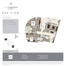 floor plans by address emaar properties emaar the address residences sky view downtown