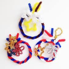yukamila art pipe cleaner crafts christmas ornaments 2013