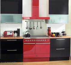 modern kitchen design with red hood for stylish look stylish
