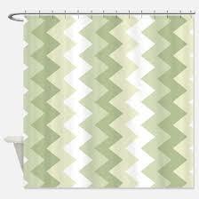 Green Chevron Shower Curtain Modern Green Shower Curtains Cafepress