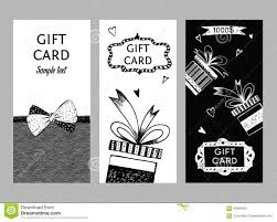 optimal resume builder set of gift cards hand drawn templates gift certificate stock bow