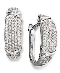 black diamond hoop earrings diamond hoop earrings in sterling silver 1 ct t w earrings