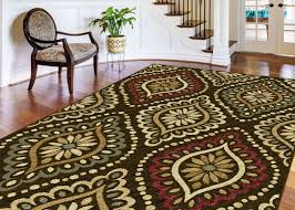Floral Area Rug with Brown Transitional Floral Area Rug Geometric Dots Casual Multi