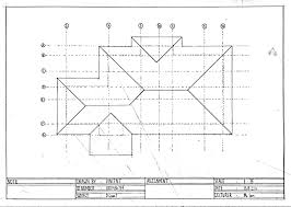 Floor Plan With Roof Plan Amazing Roof Plans 9 Sample House Plan Blueprints Framing Plans
