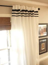 endearing white curtains with blue trim decorating with 25 best