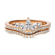 v shaped ring gold plated sterling silver cubic zirconia cz deco crown