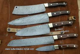 damascus steel kitchen knives custom handmade damascus steel blade kitchen knives set sultan