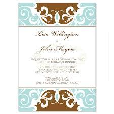 bridal dinner invitations blue brown rehearsal dinner invitation templates jordana