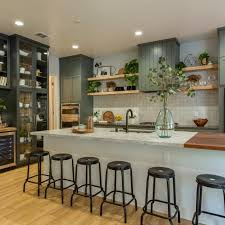 seeded glass kitchen cabinet doors photos hgtv
