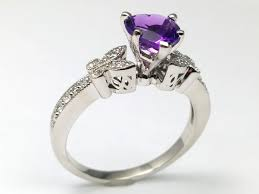 amethyst engagement ring custom by butterfly european engagement rings from mdc diamonds nyc